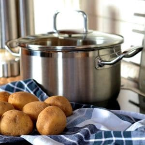stainless steel pot, slow cooker